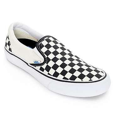 Vans Classic Slipon Classic 50th BLACK ORO checkerboard MIS. 47