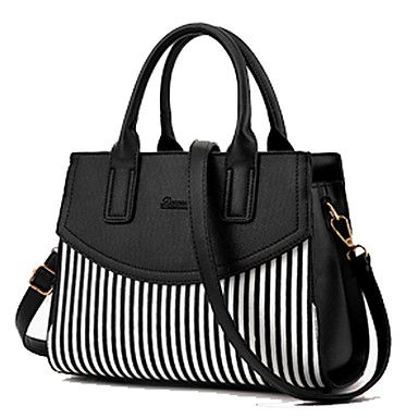 White & Black bags are always such a nice combination. Like this tote bag? Click to shop for $23 <3