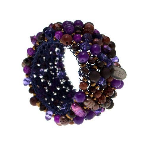 Klasyk z fioletem | HERSTORY Design - wyjątkowa biżuteria