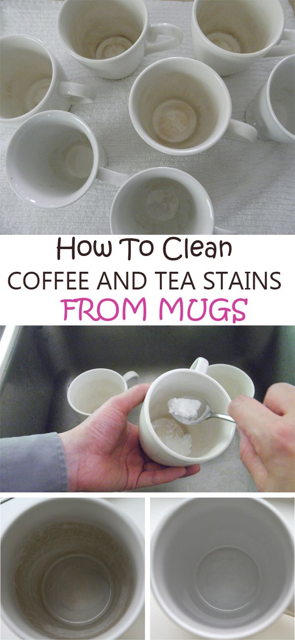 How to clean coffee and tea stains from mugs ==