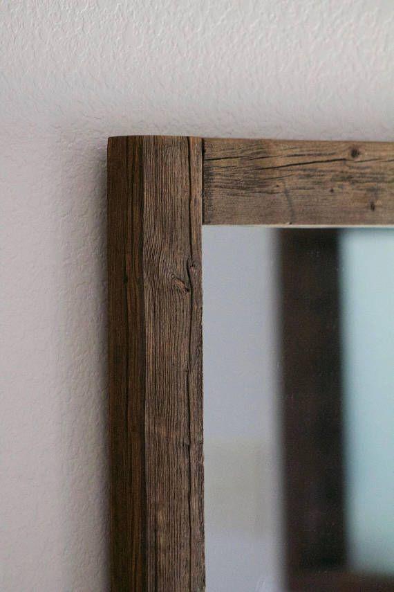 Rustic Wall Mirror   Large Wall Mirror   28 X 34 Vanity Mirror   Bathroom  Mirror   Rustic Mirror   Reclaimed Wood Mirror   Bathroom Vanity