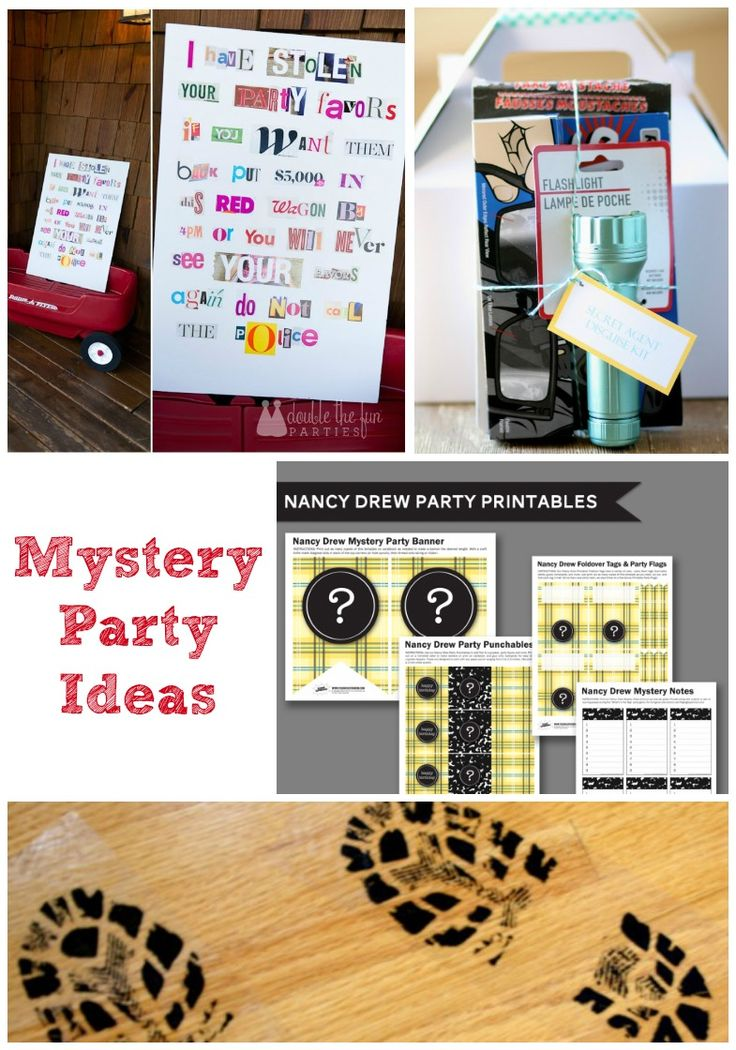 Mystery Birthday Party - creative mystery party ideas for kids including free printables