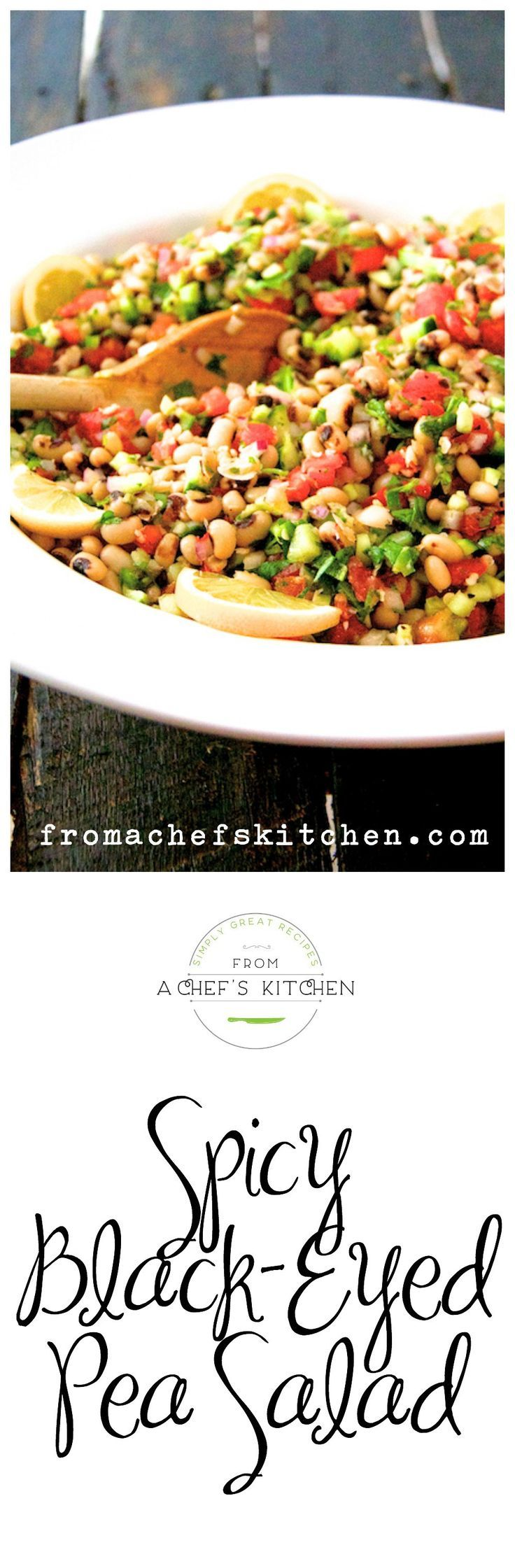 Spicy Black-Eyed Pea Salad - More than a New Year's good luck charm, black-eyed…