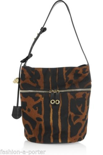 ALEXANDER-McQUEEN-SKULL-PADLOCK-OCELOT-CANVAS-LEATHER-BUCKET-SHOULDER-BAG-BNWT
