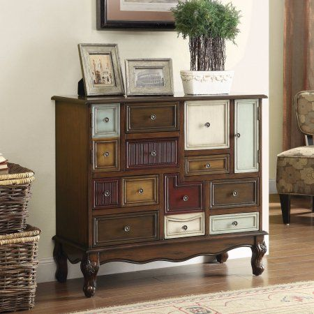 Coaster Eclectic Style Brown Accent Cabinet