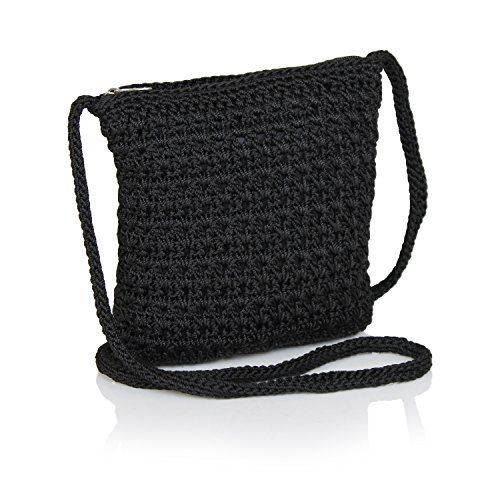 Be bright happy and bold with this mini Crocheted Crossbody sling bag. Cute Hippie style Crochet Multi pocketed purse keeps you organized with its fabric lined interior that contains four card slip p...
