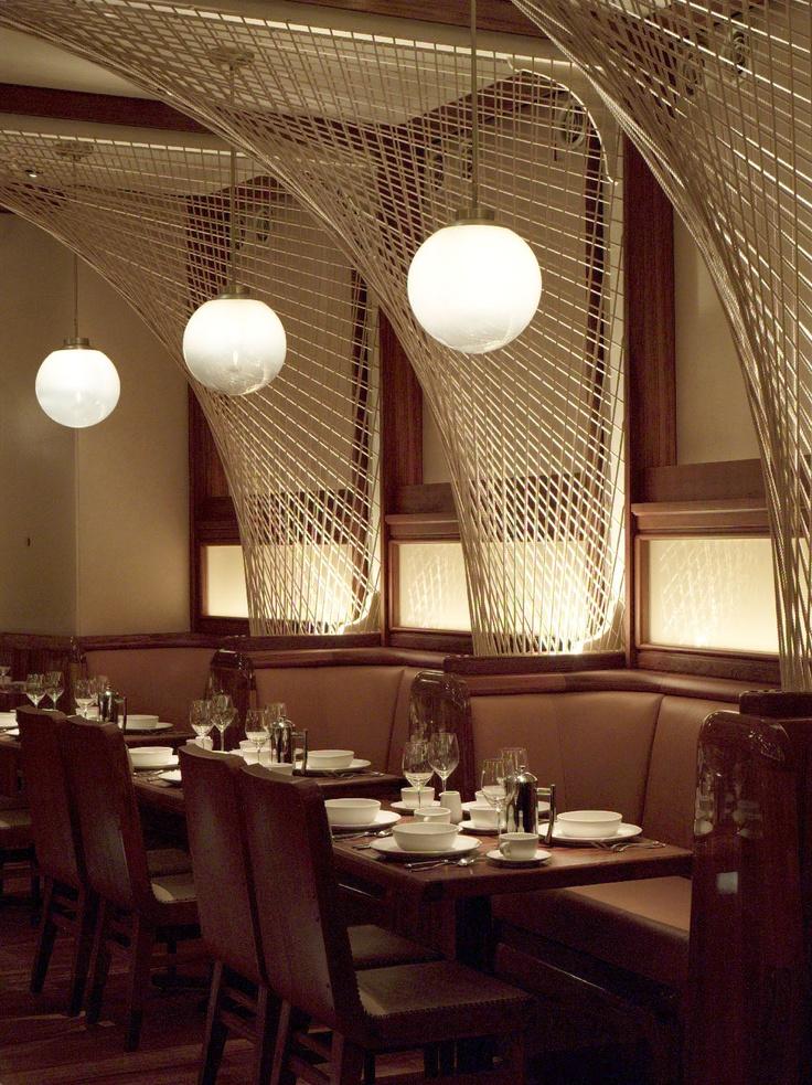 New york hotel restaurant light panels