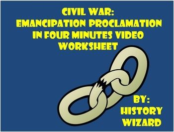Emancipation proclamation worksheet for middle school