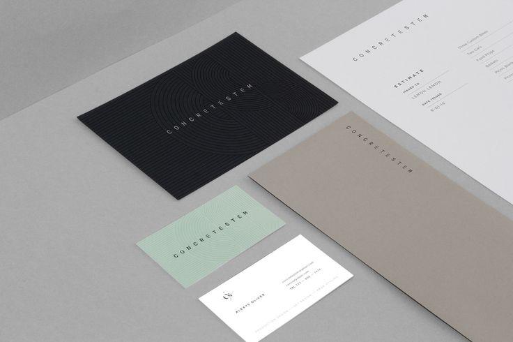 Concretestem Branding  http://mindsparklemag.com/design/concretestem-branding/