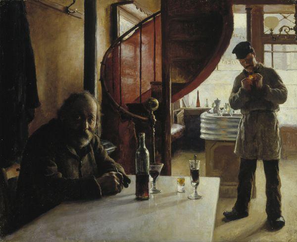 Eero Järnefelt: Ranskalainen viinikapakka (1888). Kuva: Valtion taidemuseo, Kuvataiteen keskusarkisto / Antti Kuivalainen.