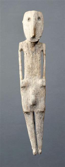 Male figure, Chalcolithic Age, c. 3500 BC, Safadi, near Beersheba, northern Negev, Levant, Hippopotamus ivory - Louvre