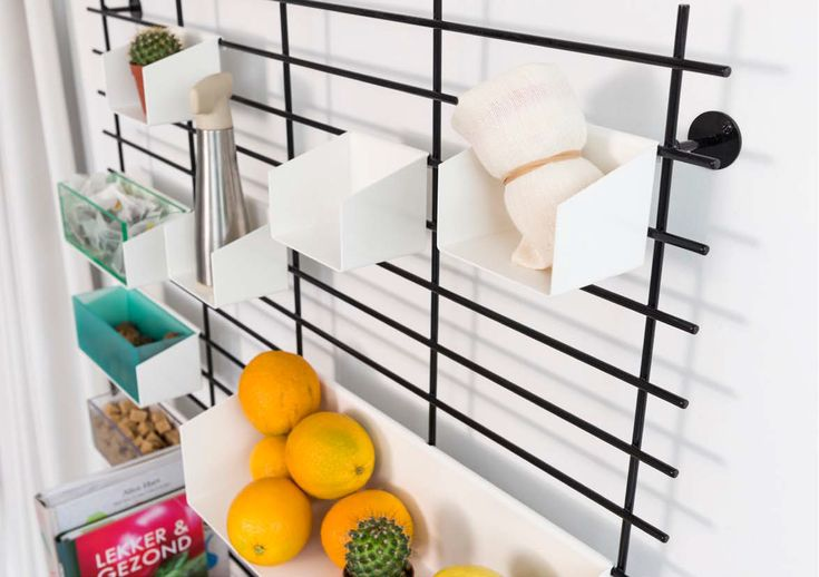 modular kitchen wall organizer various containers design