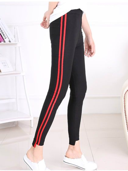 bd08379a4fb10 Black Jeggings With Red Stripes | Only on indiafashionetsy.wooplr.com |  Best Bottomwear Online #girlsdress #womenclothing #womendress  #girlsbottomdress ...
