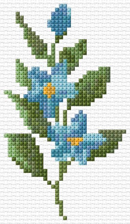 Mavi cicek