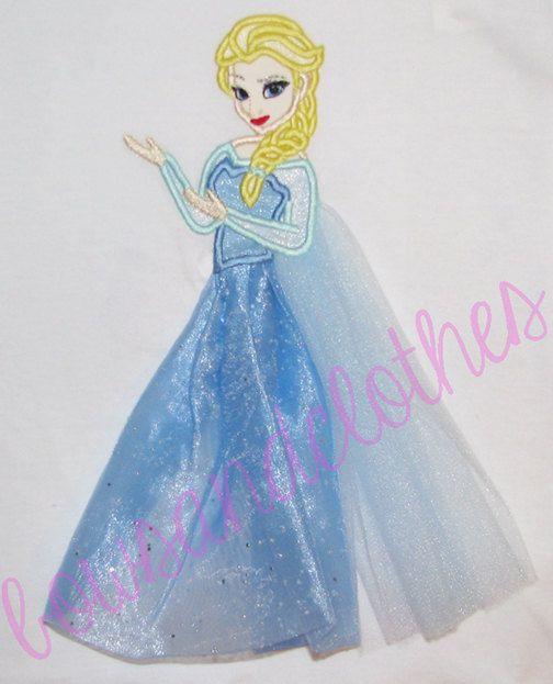 Elsa applique in tulle design digital instant