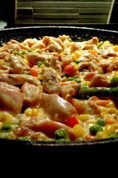 Zöldséges csirke ragu