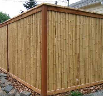 bamboo privacy materials