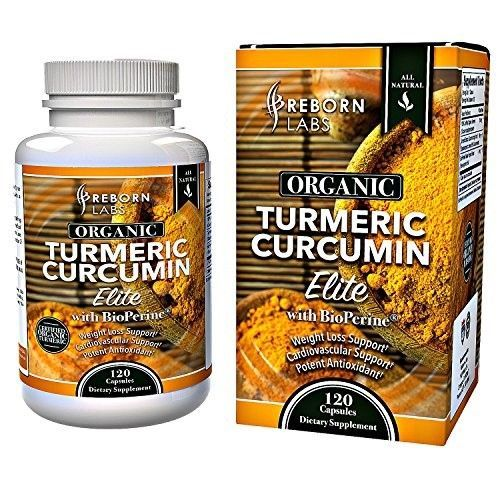 Organic Turmeric (Red) Curcumin Capsules with BioPerine ® for Joint Pain, Inflammation, & Mood Enhancement High Potency 100% Certified Organic Standardized to 95% Curcuminoids with Black Pepper Extract