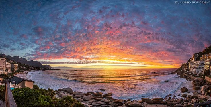 On Sunday, Cape Town witnessed one of the most memorable sunsets of recent times. This shot of Clifton by Stu Shapiro Photography. #CapeTown #sunset #travel #safari
