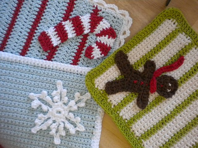Ravelry: Crocheted Christmas Washcloths pattern by Josey B Harvey