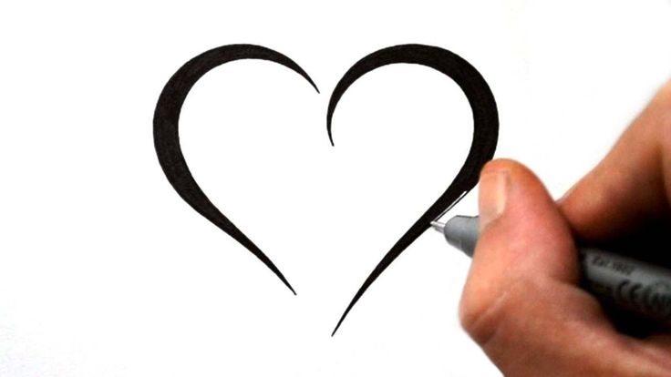 How to Draw a Simple Tribal Heart - Tattoo Design 4 - YouTube