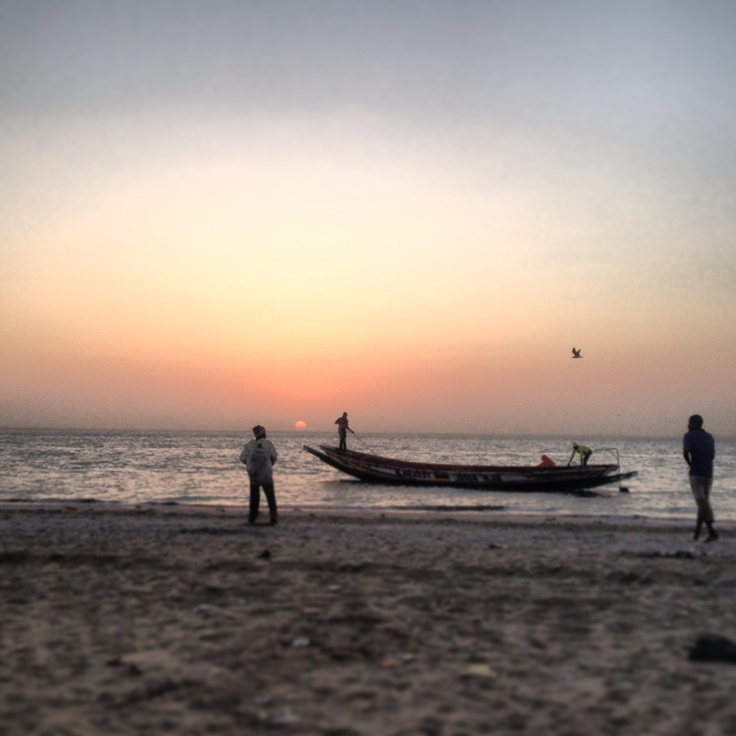 Early morning Fishing boats in the Gambia, Africa