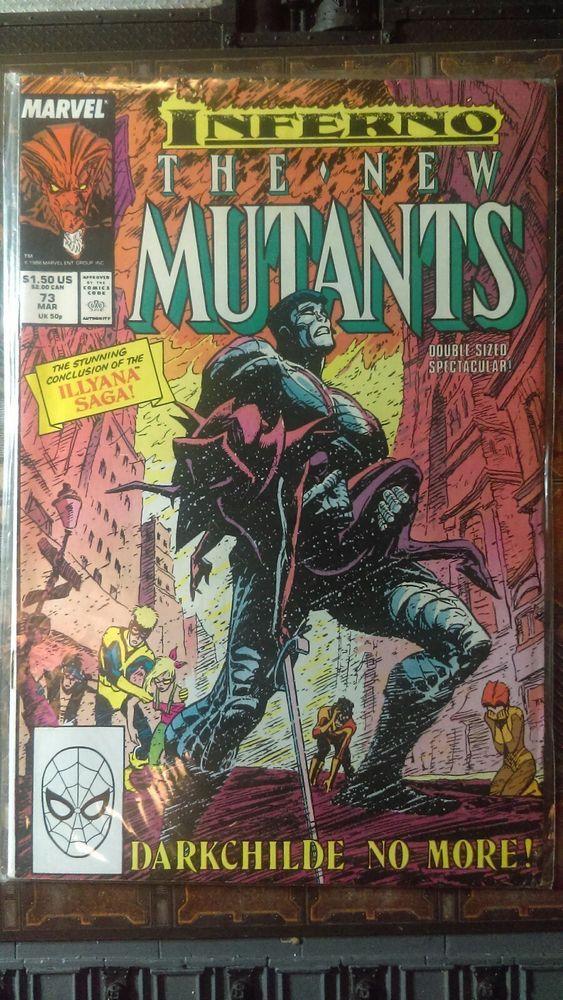 Marvel Comics New Mutants 73 Copper Age 1989 Fate Of