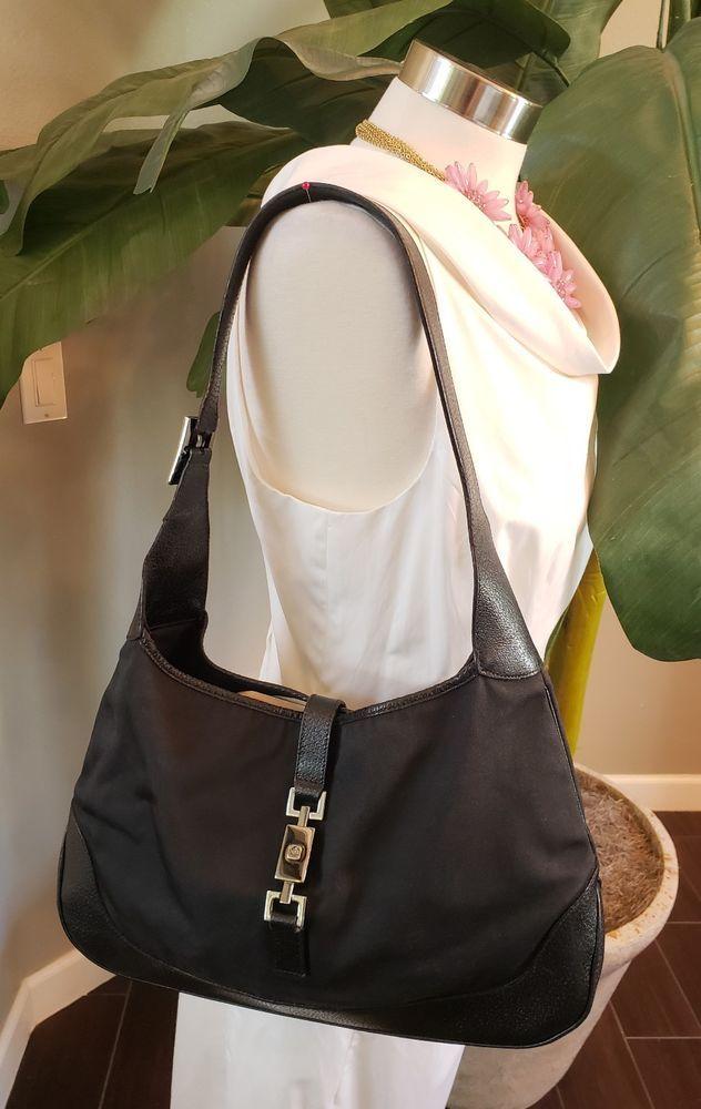 fde0bc4543c5 GUCCI Jackie O Hobo Black Vintage Bag Purse Tote 001-3346  Gucci   ShoulderBag