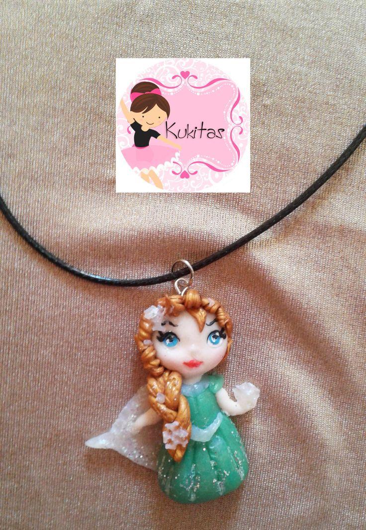 hada, kawaii chibi ooak doll, jewelry, kawaii polymer clay charm necklace, kawaii fairy doll, fairy necklace, collar, colgante, frozen de Marivinix…