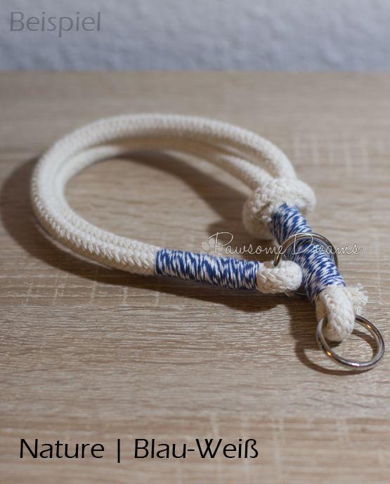 Zugstopp-Halsband aus Baumwolltau, Breite ca. 20mm. Tauhalsband Hundehalsband Pawsome Dreams Collar Dog
