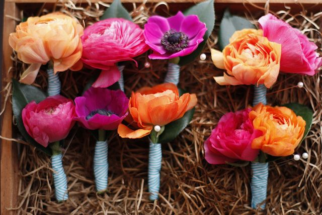 boutonnieres by honey and poppies, via Flickr