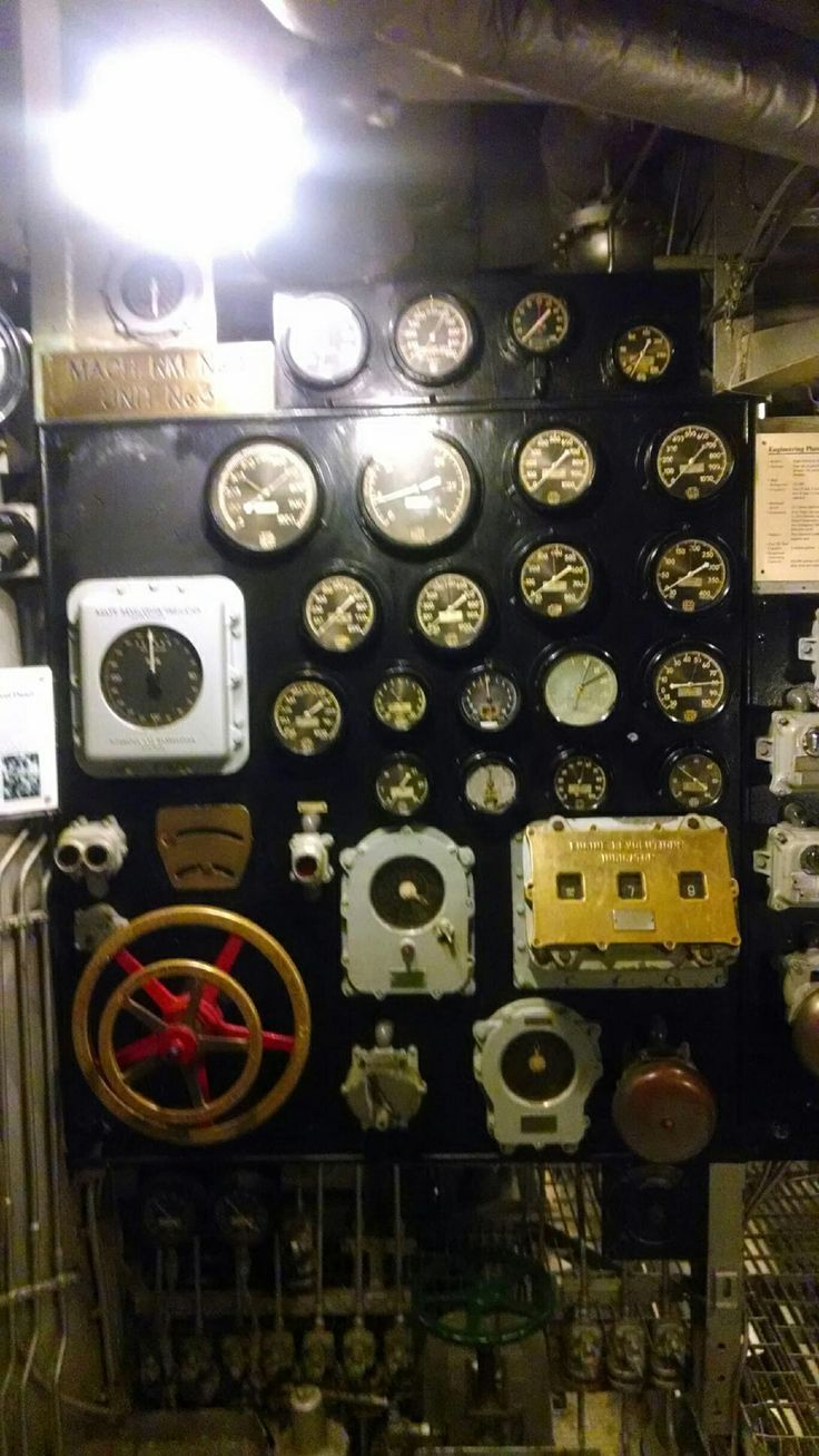 Bb 57 Engine Room: Boiler Room Gauges USS North Carolina