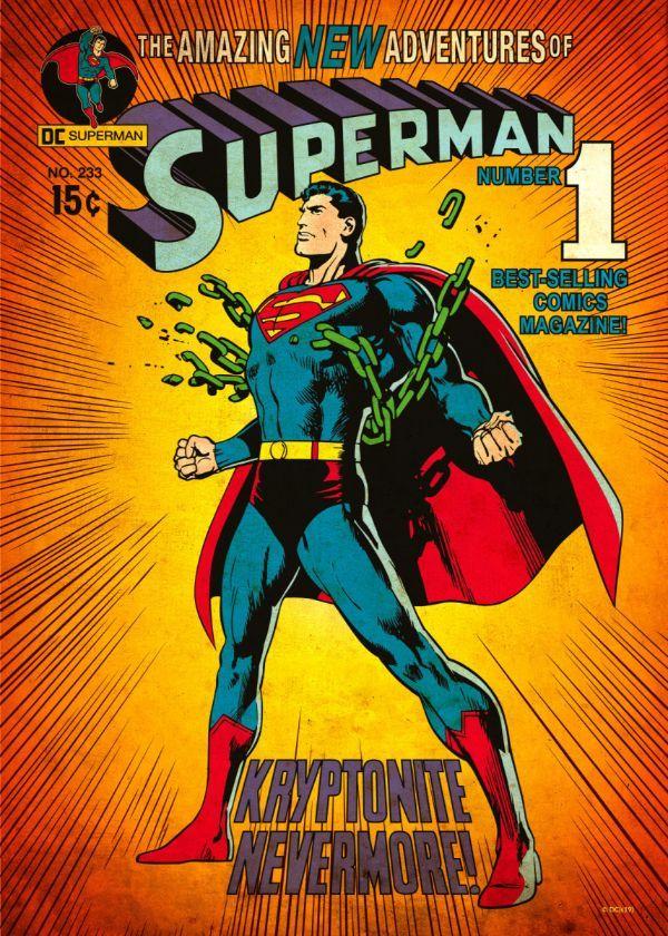 AMAZING WORLD OF SUPERMAN 1972 POSTCARD FREE SHIPPING