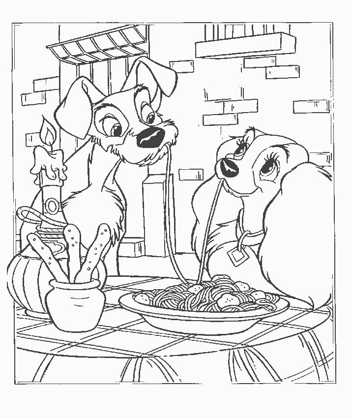 Coloring Page - Lady and the tramp coloring pages 0