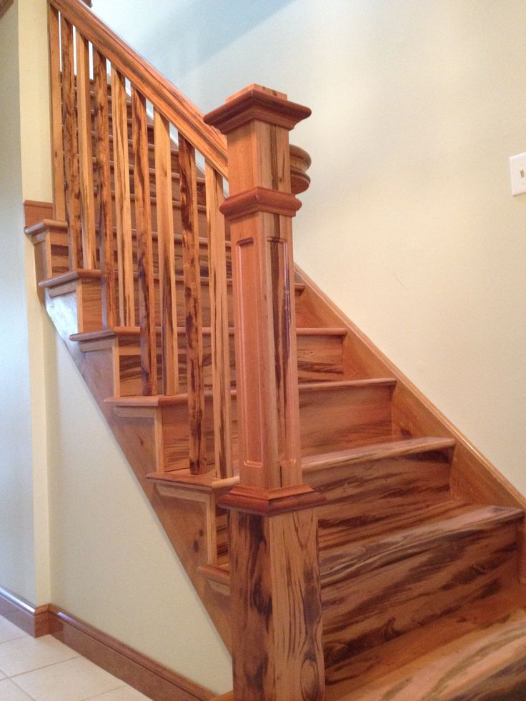 Pin by stairsupplies custom stairs on finished projects - Interior stair treads and risers ...