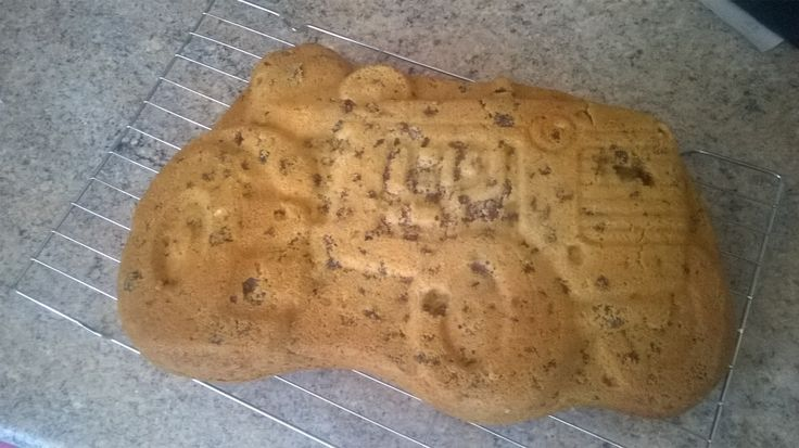 Tractor fruit and tea cake - you can still see the outline from the tin!