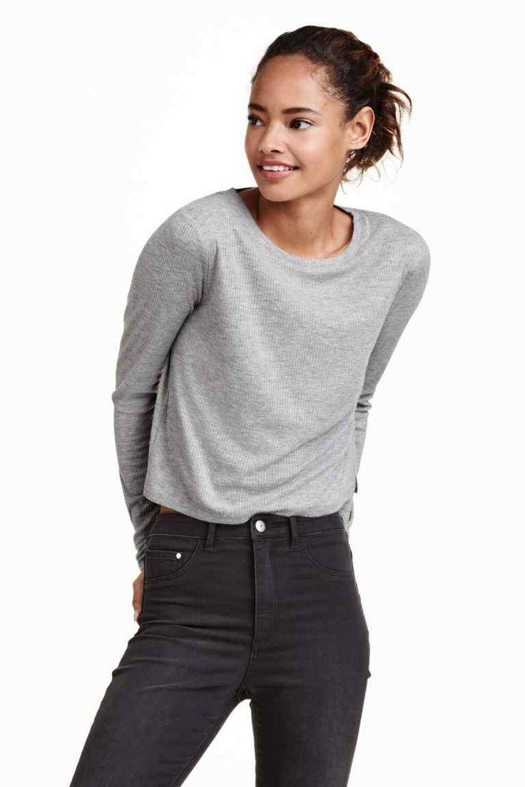 Maglia corta in jersey | H&M