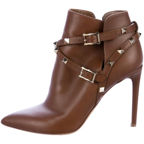 Pre-owned - Rockstud leather ankle boots Valentino bb4lG23