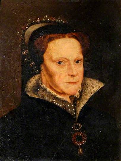 Mary I,. Tudor, of England, daugjter of King Henry VIII and his first wife, Ctalina de Aragón