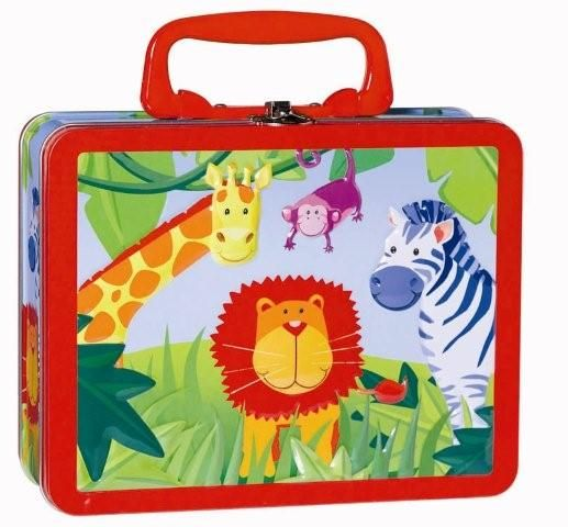 Jungle Animals metal lunchbox
