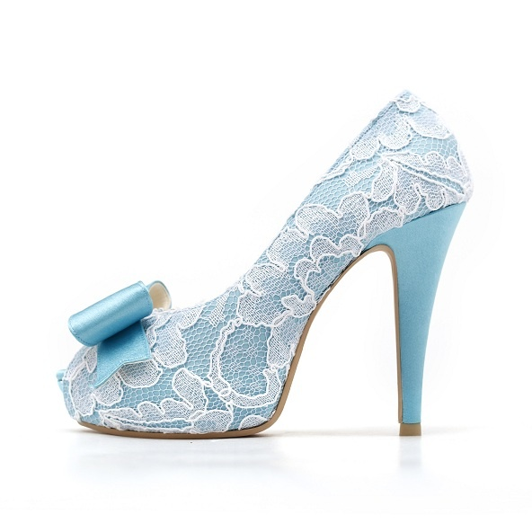 Something Blue Wedding Shoes...if it had a strap and no bow, it'd be really nice. :)
