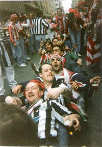 Newcastle United supporters in San Mames