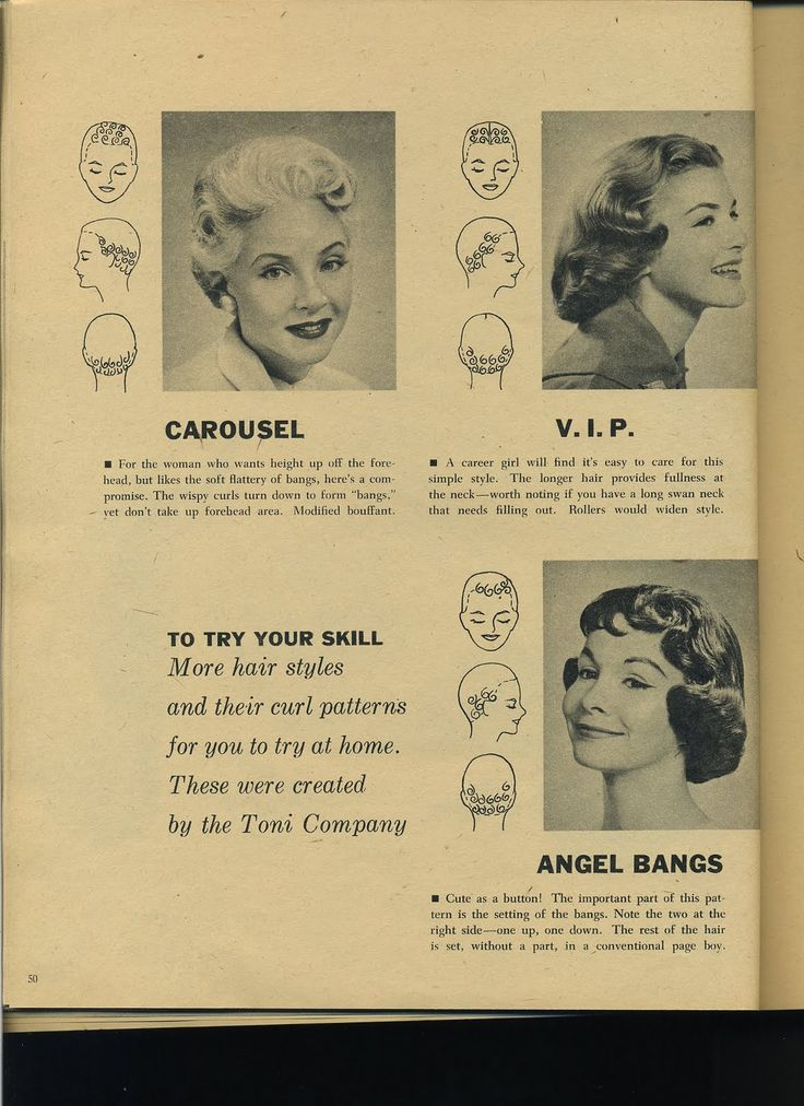 """This pin curl pattern for """"Angel Bangs"""" is beyond adorable!"""
