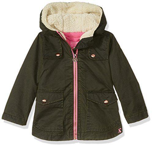 23a514633 Joules Little Girls  Clover Parka Coat