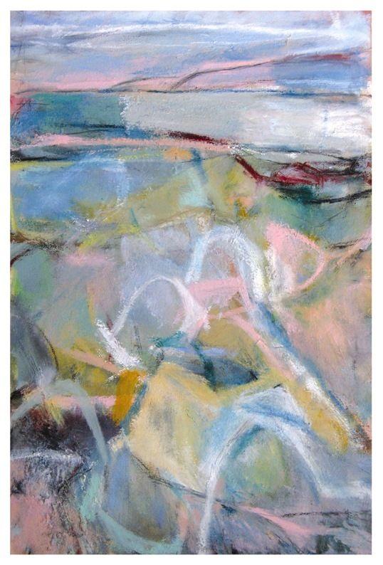 'Soft Fractures II', Janine Baldwin, oil & charcoal on canvas, 67 x 42cm  www.janinebaldwin.com