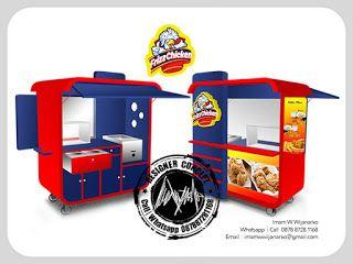 Desain Logo   Logo Kuliner    Desain Gerobak   Jasa Desain dan Produksi Gerobak   Branding: Desain Gerobak Frizz Chicken