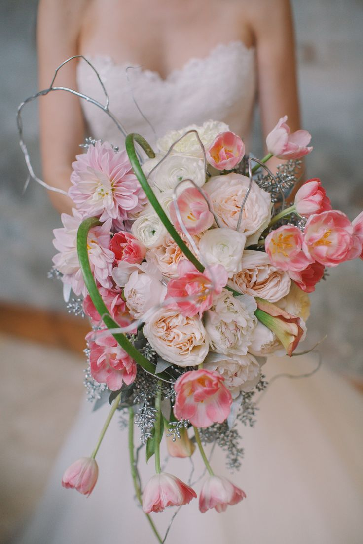 Big Beautiful #Bouquet by Km Starr Wise |  See the wedding inspiration on #SMP Weddings: http://www.stylemepretty.com/little-black-book-blog/2013/12/24/thomas-bistro-holiday-wedding-inspiration-shoot/ Photography: Pure 7 Studios