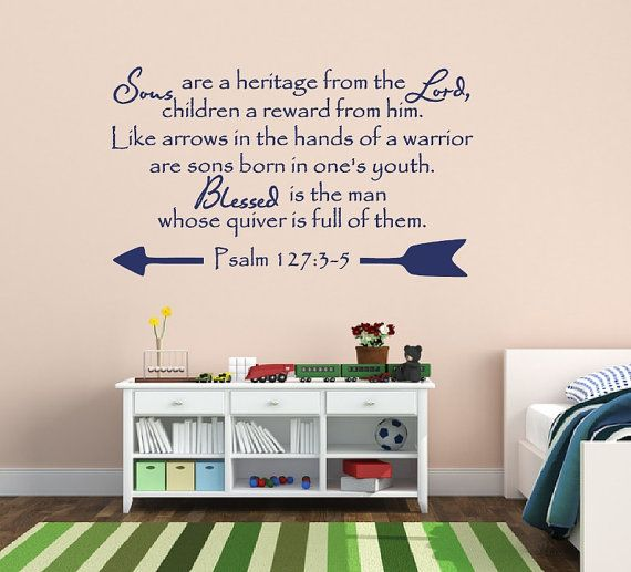 Best Spiritual Religious Wall Decals  Quotes Images On - Bible verse nursery wall decals