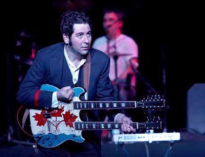 Martin Tielli, formerly of the Rheostatics with his hand-painted double-neck.