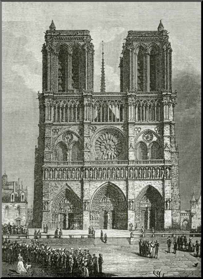 Notre Dame De Paris En 1642 Illustration From Notre Dame
